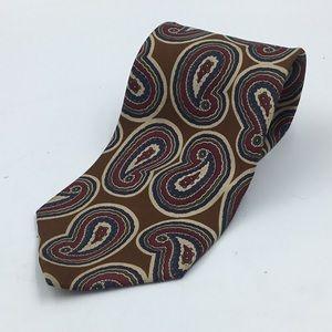 Christian Dior Silk Paisley Tie